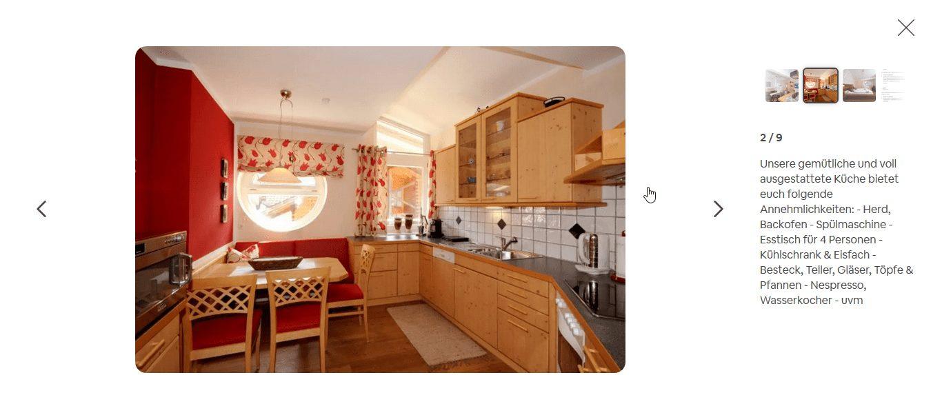 Airbnb Bildbeschreibung geändert
