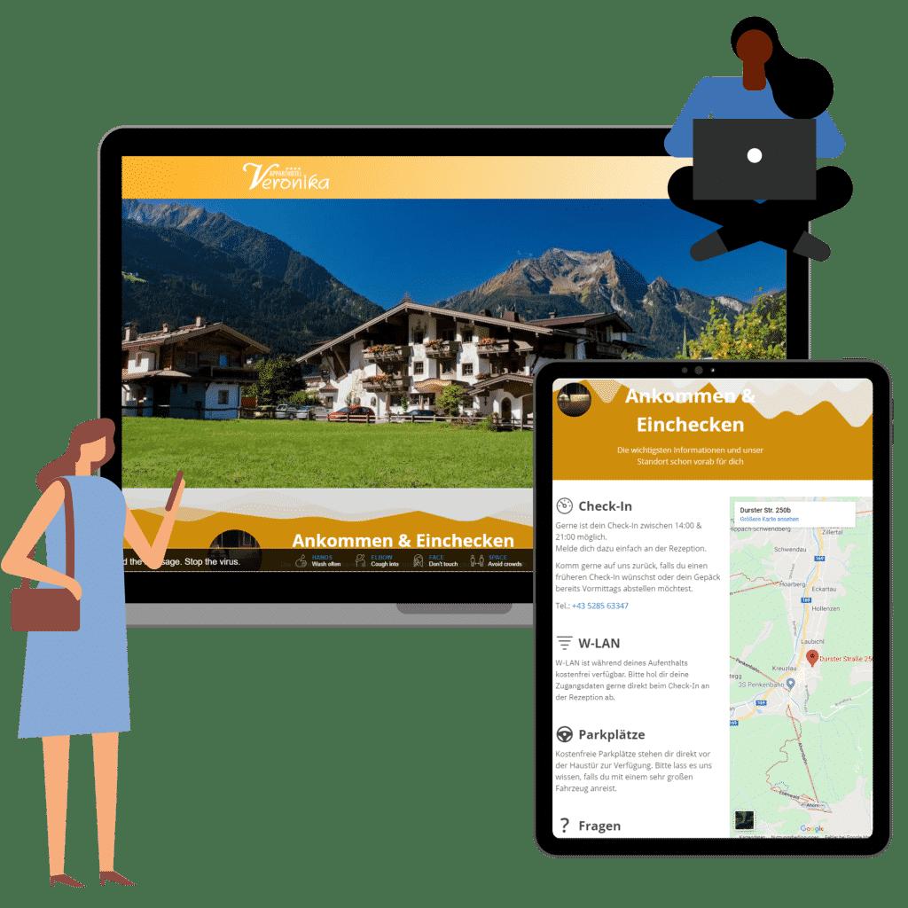 Digitale Gästemappe mit Guidebook von wodgingcom